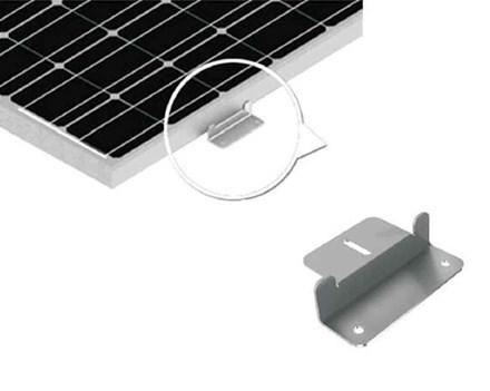 Aluminium steunen glaspaneel (4 stuks) Z-profiel
